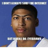 Anthony Davis Surfing the Internet