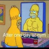 Homer After One Day At the Gym