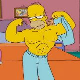 Homer Simpson Muscles