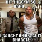 When the Rock goes to the gym