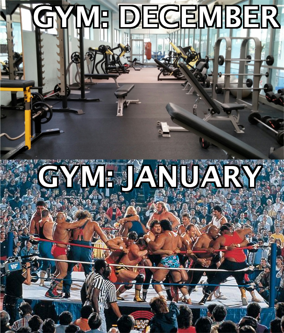 GYM Before and After New Year