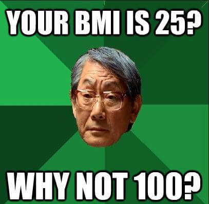 Your BMI is 25? Why Not 100?